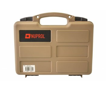 Nuprol Small Pistol Hard Case Tan Pluck Foam