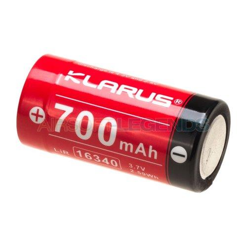 Klarus Klarus 16340 Battery 3.7V 700mAh