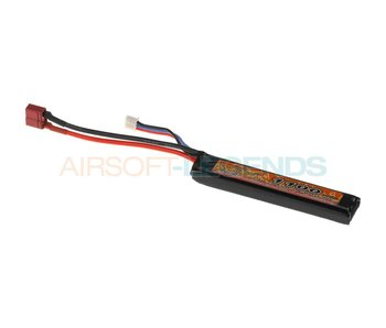 VB Power Lipo 7.4V 1100mAh 20C Stock Tube Type T-Plug