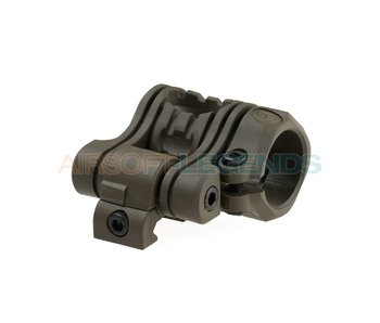 CAA Tacttical QR 5 Pos Flashlight Mount OD Green