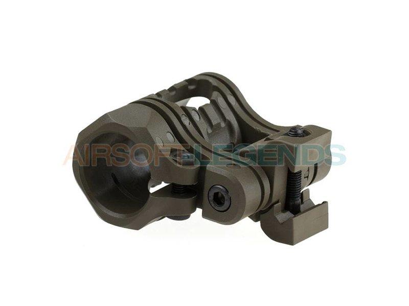 CAA Tactical QR 5 Pos Flashlight Mount OD Green