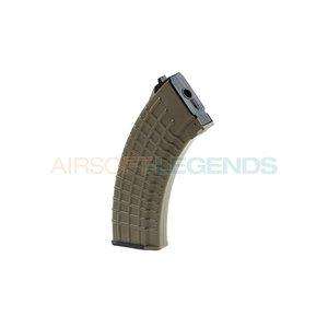 King Arms King Arms Midcap Magazine AK47 Waffle (140BB's) Desert