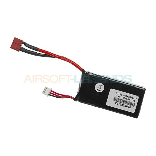 Pirate Arms Pirate Arms 7.4V LiPo 1500mAh 15C Mini Type T-Plug