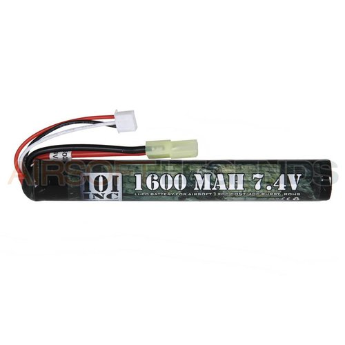 101Inc. 101Inc. 7.4V LiPo batterij - 1600 MaH 20C Stick Type