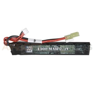 101Inc. 101Inc. 7.4V LiPo batterij - 1300 MaH 20C Stock Tube Type