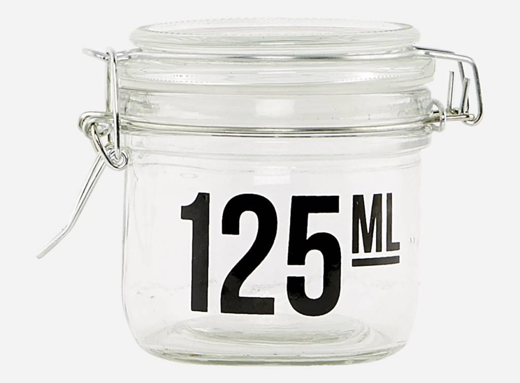 beh lter glas 125ml von house doctor das kleine dachst bchen www das kleine. Black Bedroom Furniture Sets. Home Design Ideas