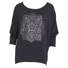 Greengate Jersey top Doily warm grey