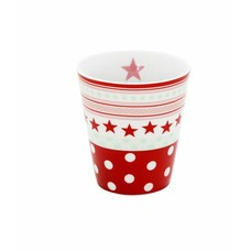 Krasilnikoff Mug, red star/ dot