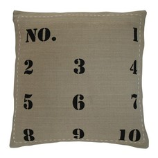 Cushion Taupe with black numbers