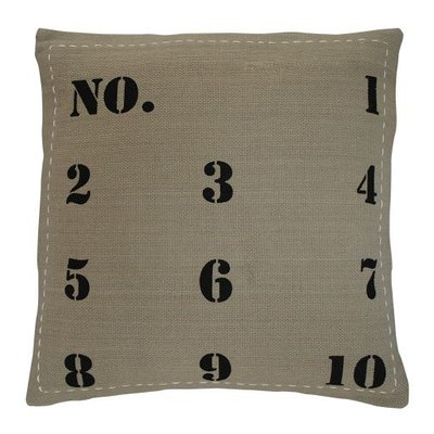 Krasilnikoff Cushion Taupe with black numbers