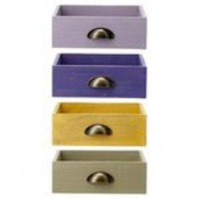 Bloomingville Schublade aus Holz in 4 verschiedenen Farben