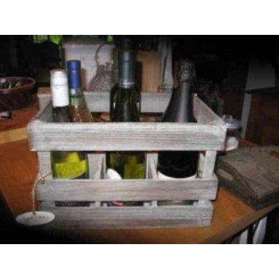 Decostar, Countryfield Weinkiste für 6 Flaschen