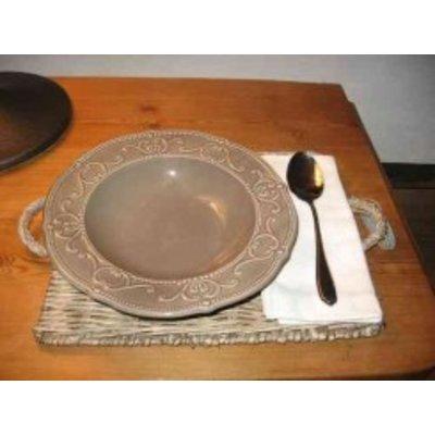 Decostar, Countryfield Suppenteller in creme oder grau