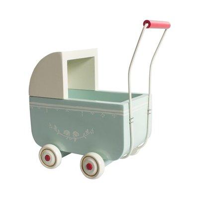 Maileg Baby Puppenwagen, hellblau