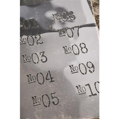Jeanne d'Arc Living Stencil, numbers