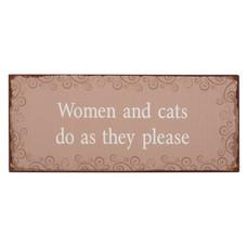 IB Laursen Metallschild, Women and cats...