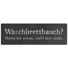 Metallschild, Waschbrettbauch