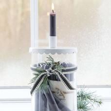 IB Laursen Weihnachtskerzen 10Stck.grau oder weiß
