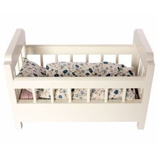 Maileg Wooden Cot Bed, offwhite