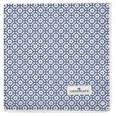 Greengate Napkin with lace Jasmina blue