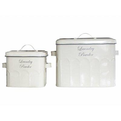 """Chic Antique Altfranzösische Box """" Loundry Powder"""",2  verschiedene Größen"""