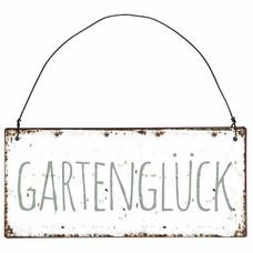 IB Laursen Metallschild, Gartenglück