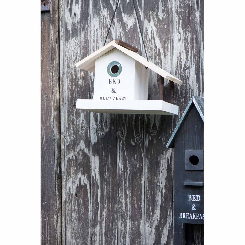 vogelhaus mit balkon in weiss oder schwarz aus holz von ib. Black Bedroom Furniture Sets. Home Design Ideas