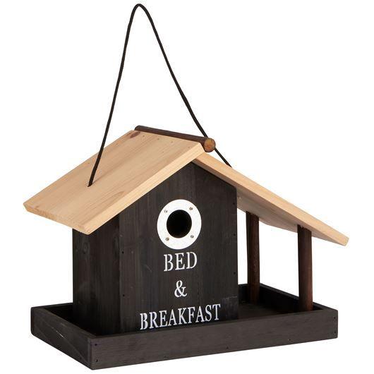 vogelhaus mit balkon in weiss oder schwarz aus holz von ib laursen f r alle vogelliebhaber. Black Bedroom Furniture Sets. Home Design Ideas