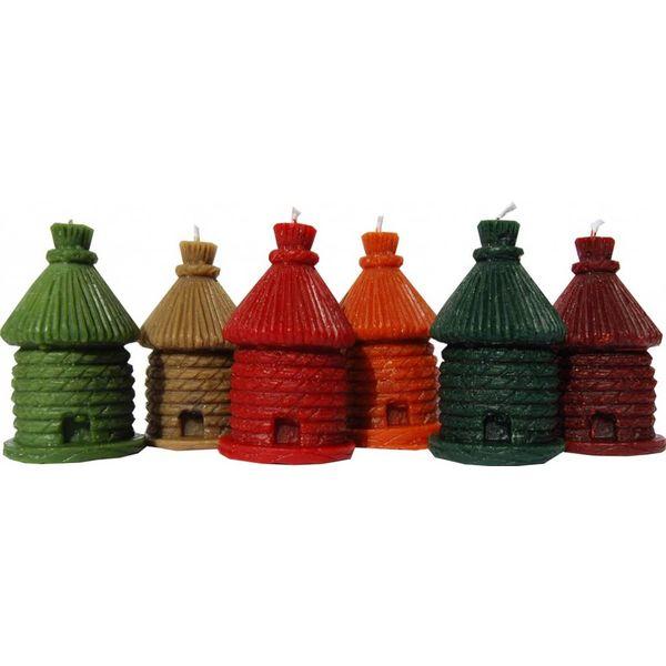 Bienenwachs Kerzen - Bienenkorb in verschiedenen Farben