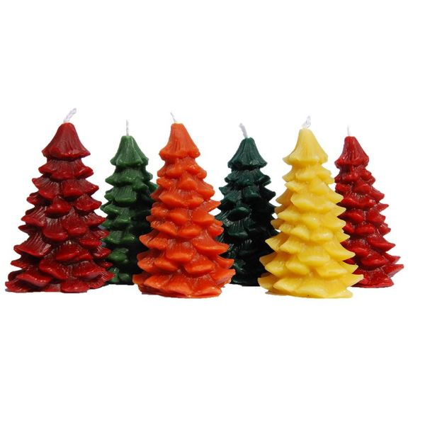 Bienenwachs Kerzen - Tannenbaum, in verschiedenen Farben