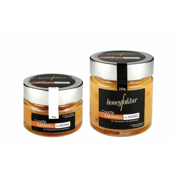 Crunchy Karamell in Honig - Honigspezialitäten von honeyfaktur