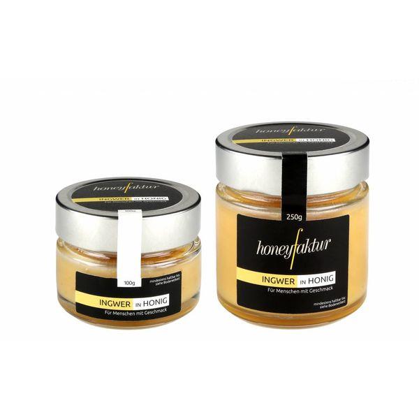 Honig mit Ingwer - Honigspezialitäten von honeyfaktur