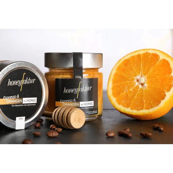 Espresso & Orange in Honig - Honigspezialitäten von honeyfaktur