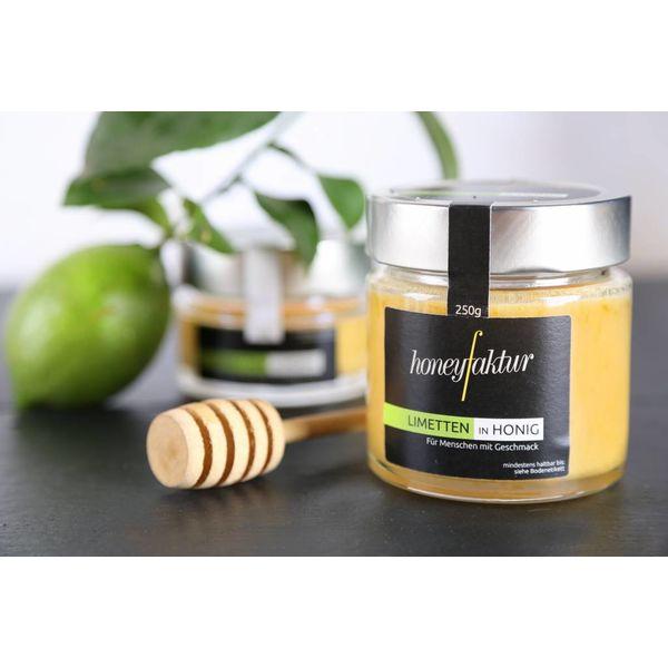 Limetten in Honig - Honigspezialitäten von honeyfaktur