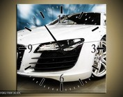 Automotive art wandklokken op canvas 44X