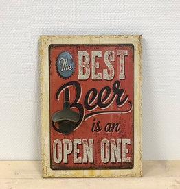 Tekstbord met opener The Best Beer