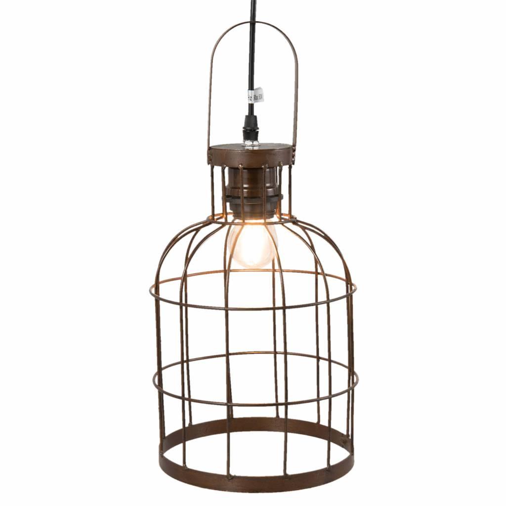 Clayre & Eef Hanglamp ijzer Bruin
