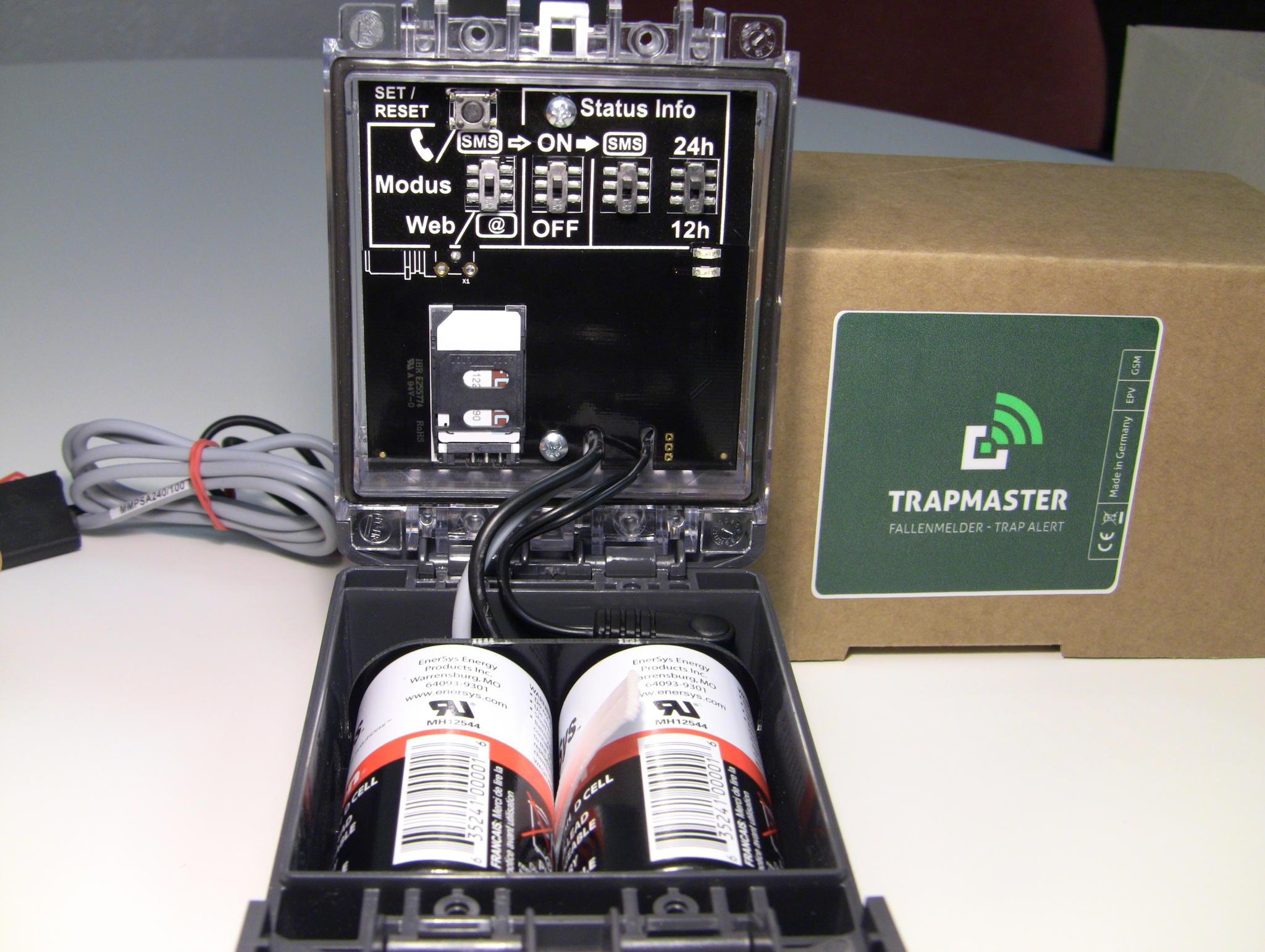 Einfache & intuitive Bedienung des TRAPMASTER Fallenmelder Fallenwächter Fallenalarms