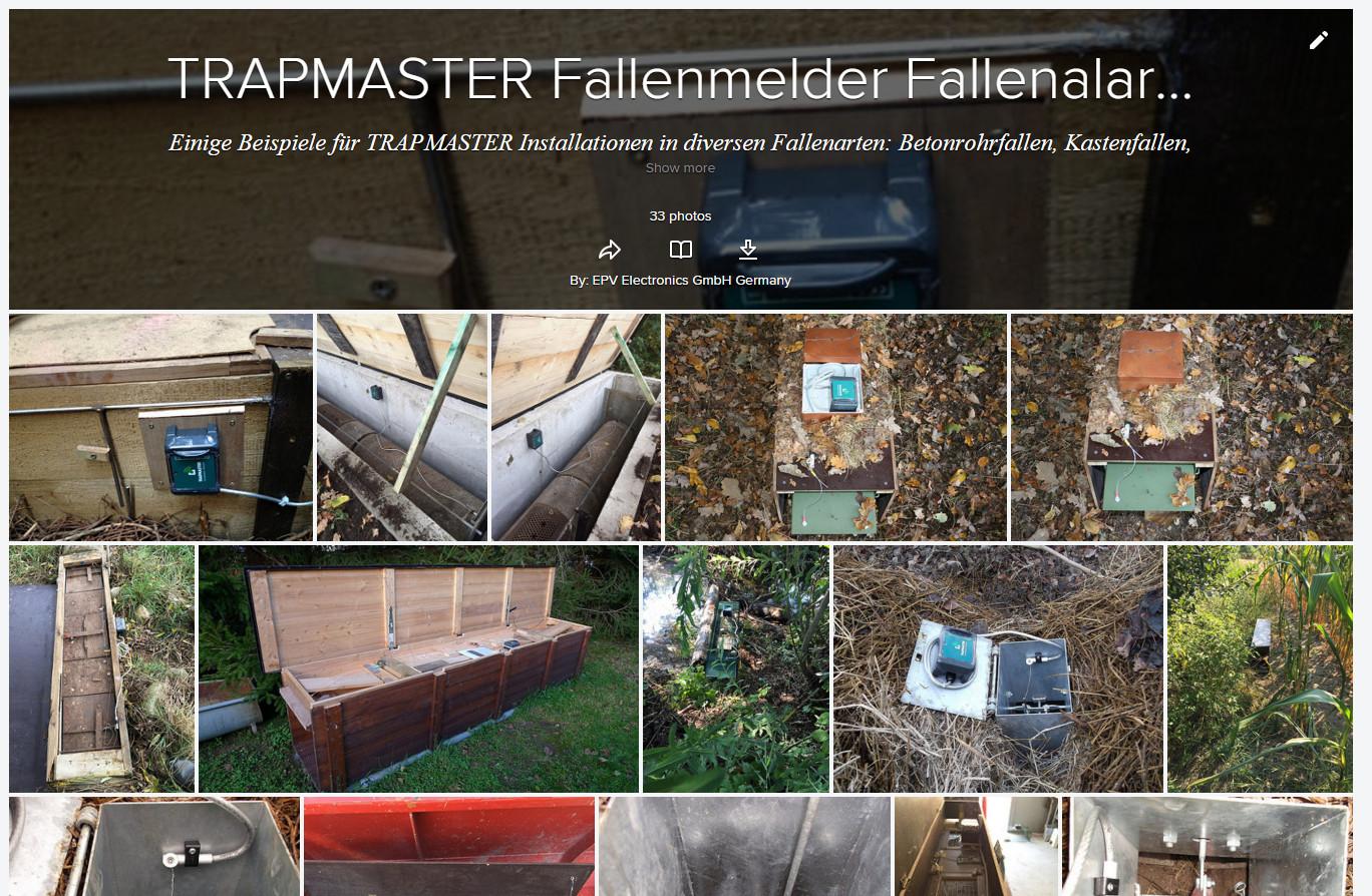 Bilder Galerie Fallenmelder Fangmelder TRAPMASTER