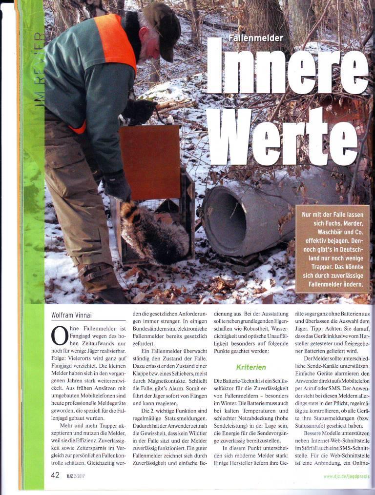 Fallenmelder Innere Werte Deutsche Jagdzeitung