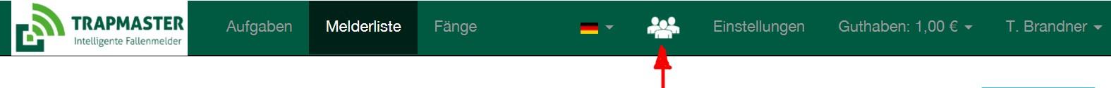 Mitjäger-Verwaltung des Fallenmelders TRAPMASTER Professional