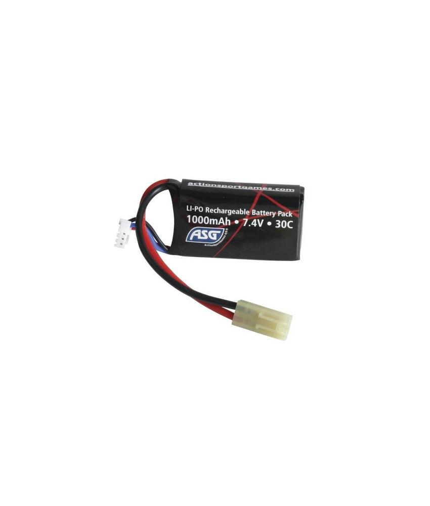 ASG LiPo 7.4V 1000mAh 30C Mini Type