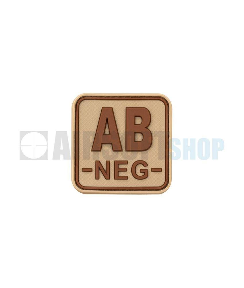 JTG Bloodtype Square PVC Patch AB NEG (Desert)