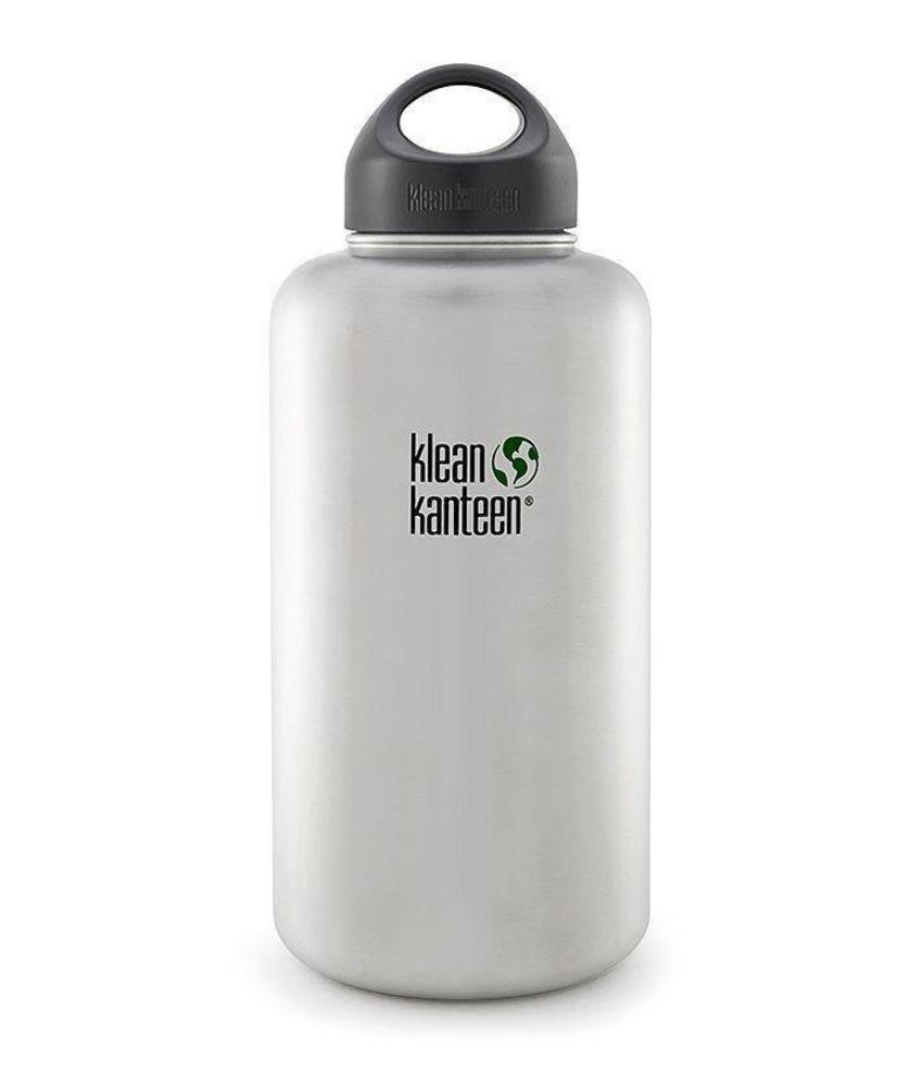Klean Kanteen Wide 1.9L Drinkfles (Brushed Stainless)