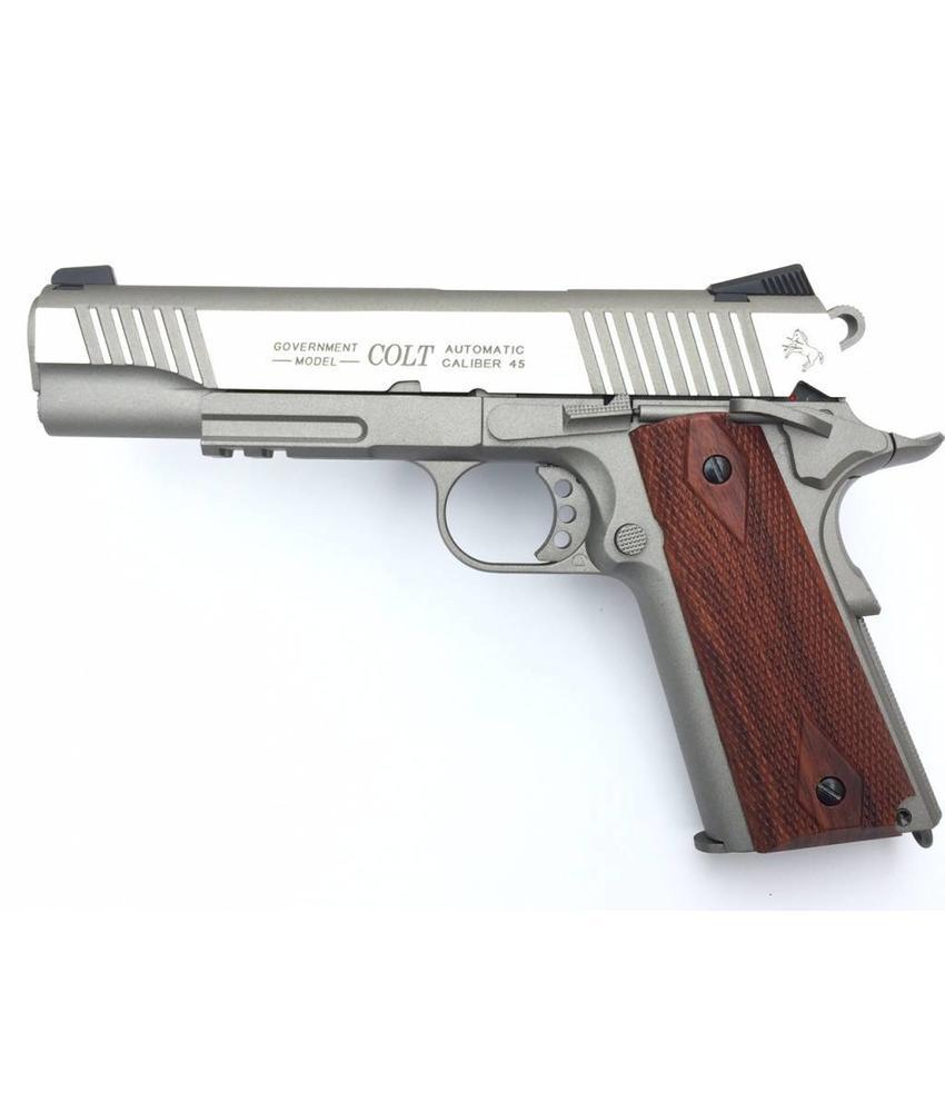 Cybergun Colt 1911 Rail Gun Stainless CO2
