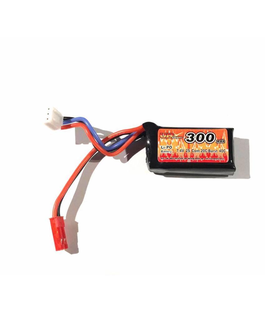 VB Power FCU 7.4V 300mAh HPA LiPo Battery