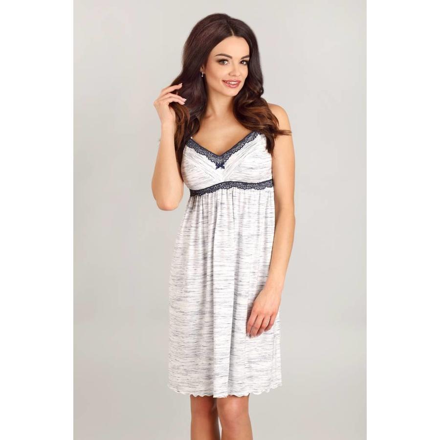 Zwangerschapsnachthemd / Voedingsnachthemd Grey-2
