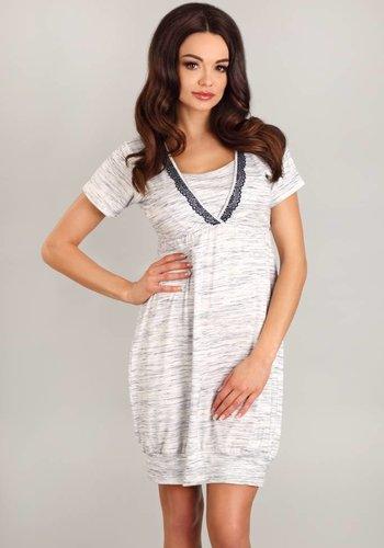 Voedingsnachthemd/zwangerschapsnachthemd Grey