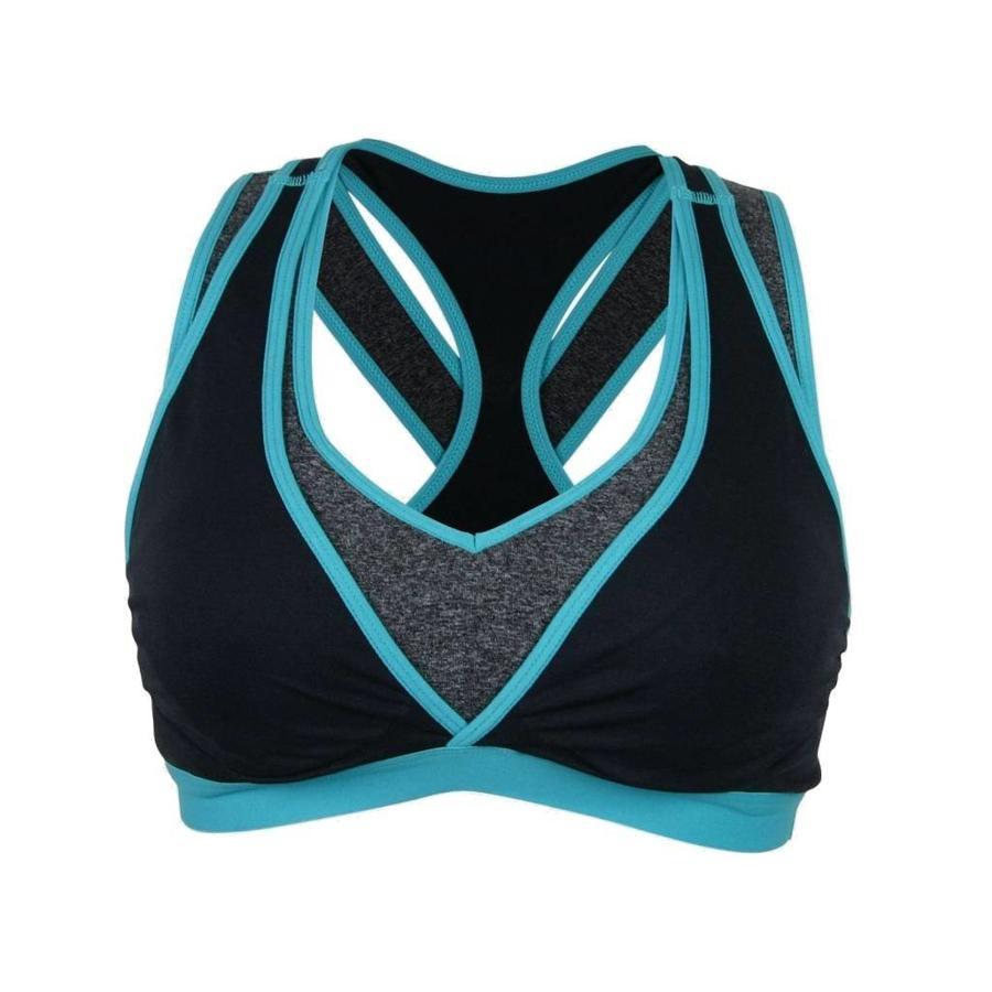 Yoga / Sport Borstvoedingsbeha / Zwangerschapsbeha Lotus Zwart / Blauw-2