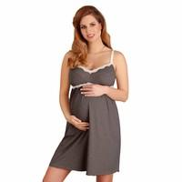 Voedingsnachthemd/zwangerschapsnachthemd Graphite